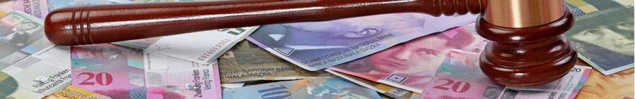 mazo judicial sobre billetes